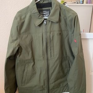 Green Army military jacket sweater Levis Strauss